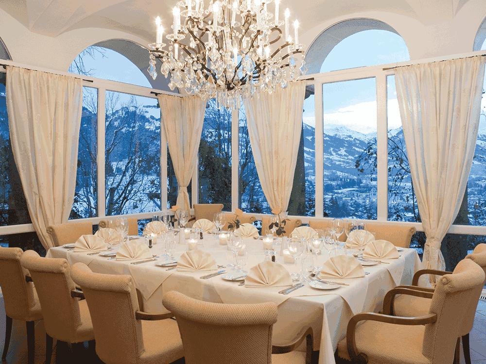 HotelSchlossLebenbergWintergartenWeihnachtsfeierinTirol