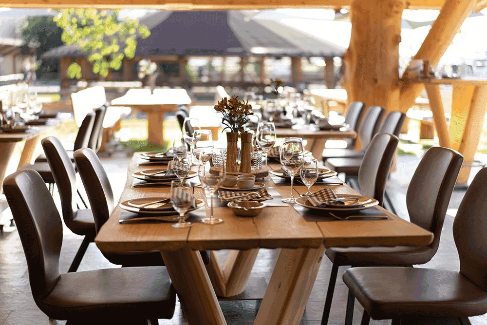 RestaurantBlockhausBlicknachdraussenWeihnachtsfeierinTirol