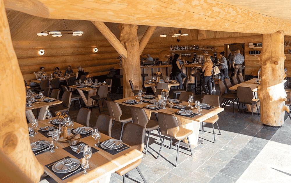 RestaurantBlockhausBlicknachinnenWeihnachtsfeierinTirol