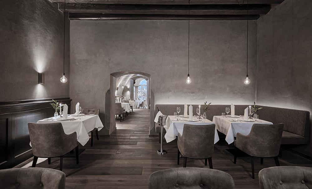 Restaurant3LBLebenbergAuenansichtWinterLebenbergSchlosshotelKitzbuhelHochzeiteninTirol