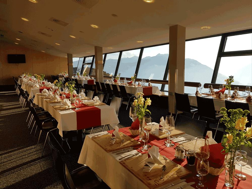 VenetBergbahnenTischdekoration-WeihnachtsfeierWeihnachtsfeierinTirol