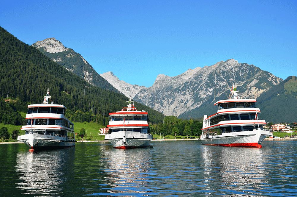 AchenseeschifffahrtVorderansichtSchiffeHochzeitenFesteinTirol1